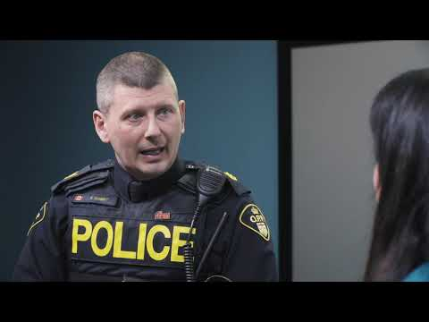 Still image of interview with Sgt. Kerry Schmidt of the OPP