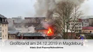 Großbrand in Magdeburg