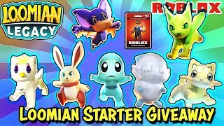 🔴 LOOMIAN GIVEAWAY | Buying Starters (Hunting SA & Gleaming) Then Giving Them to Viewers + ROBUX/ye