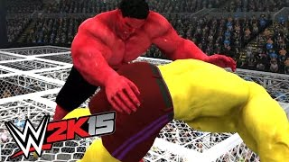 RED HULK VS YELLOW HULK - Hell In A CELL - WWE 2K15