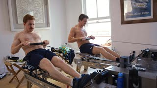 video: Watch: Flatmates row the length of the Thames from their living room for NHS charities