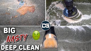 Deep Cleaning a BIG DIRTY DIESEL | Nasty Carpet Cleaning and Satisfying Car Detailing!