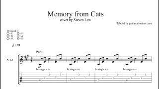 Memory from Cats TAB - fingerstyle classical guitar tab - PDF - Guitar Pro tab