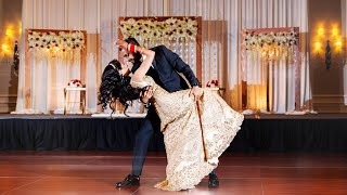 Romantic First Dance Turns Into A Bollywood Dance Routine Between The Bride And Groom