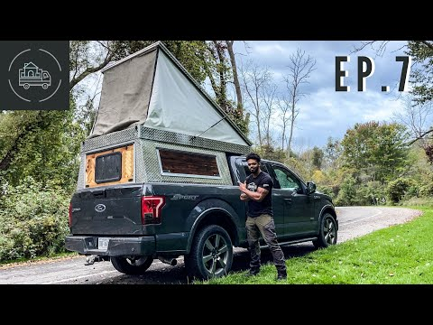 Finishing My DIY Rooftop Tent | Overland Truck Camper ep. 7