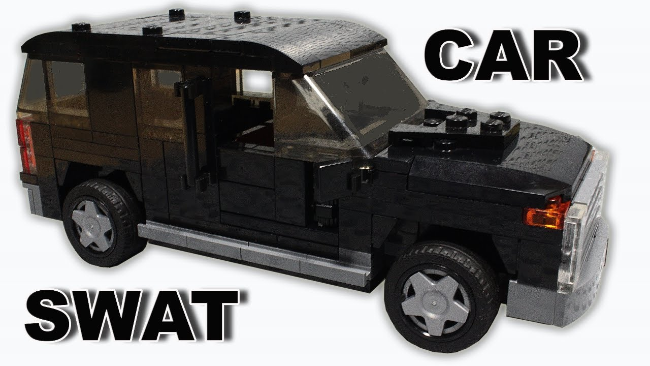 Lego SWAT Car MOC Building Instructions | Stop Motion