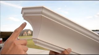 End Crown Moulding Cut!  - How to Return