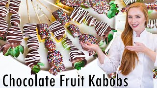 Chocolate Fruit Kabobs - Valentines Day