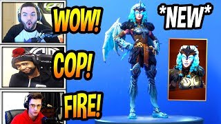 """STREAMERS REACT TO *NEW* """"VALKYRIE* SKIN! *LEGENDARY* Fortnite FUNNY & EPIC Moments"""