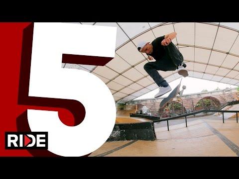 Maxim Habanec's Five Favorite Flip Tricks at Mystic Skatepark