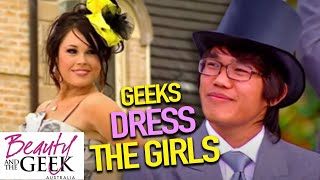Geeks DRESS The Girls | Beauty And The Geek Australia | S01E04| Full Episodes