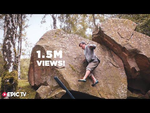 Master Rock Climber Demonstrates a No-Hands Ascent