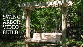 Porch Swing And Arbor Build Video : Update For Our Cabin In Broken Bow