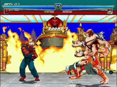 Mortal  Kombat vs Street Fighter mugen Shin Akuma vs Kintaro