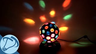 6 Black Rotating Disco Ball With 46 Points Of Light From Creative Motion
