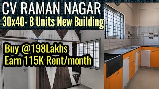 CV Raman Nagar 30x40 8 units Rental Income New Property