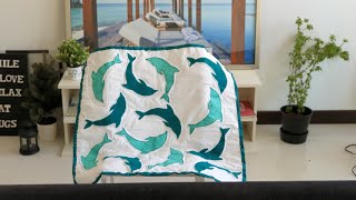 DIY - How To Make Applique Baby Quilt (machine)