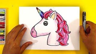 Как нарисовать ЕДИНОРОГА Радугу / Уроки рисования для детей / Простые рисунки