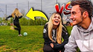 Fußball Challenge Vs Meine Freundin