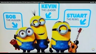 Minions New Movie Toy Hunt Gru Illumination 2015 爪牙 миньоны British Invasion King Stuart Bob Kevin
