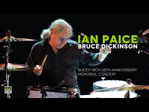 Ian Paice and Bruce Dickinson (Iron Maiden) play Smoke on the Water at 25th Buddy Rich Memorial
