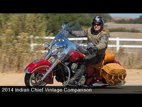 2014 Indian Chief Vintage Vs. Harley Heritage Softail Part 1 - MotoUSA