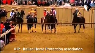 preview picture of video 'Palio di Asti 2013 - Mamuthones tenta di scappare alle nerbate e si uccide'