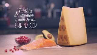 Tartare de saumon et mousse au Sbrinz AOP Video