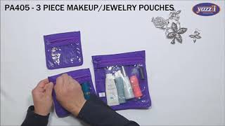PA405 – 3 Piece Jewelry Makeup Pouches | Yazzii Travel Bag