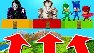 Minecraft PE : DO NOT CHOOSE THE WRONG CLOUD! (Joker, Pennywise & PJ Mask)