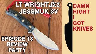 LT Wright JX2 Jessmuk 3V knife review party / vinyl, Sandy Bull / drink, Meteoro Mezcal