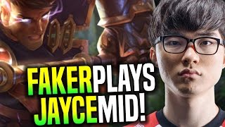 Faker Wants to Play Jayce Mid! - SKT T1 Faker SoloQ Playing Jayce Midlane | SKT T1 Replays