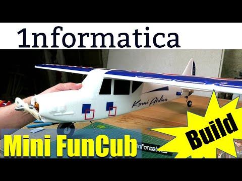 Mini Fun Cub 1100mm Wingspan EPO RC Airplane Kit Build Review