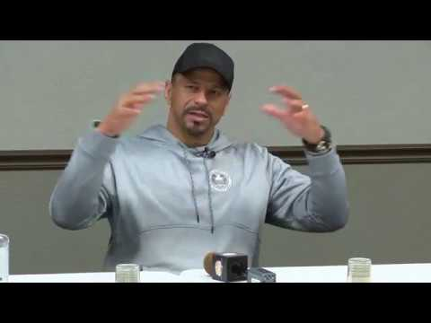 NFL Hall of Famer Rod Woodson raw interview for MSU Triangle Classic