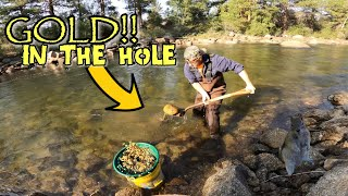 LOTS OF FLOWER GOLD Prospecting The Arkansas River | (ONE BUCKET!)