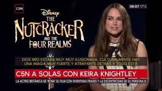 """Entrevista a Keira Knightley protagonista de """"El Cascanueces y los 4 Reinos"""" (C5N)"""
