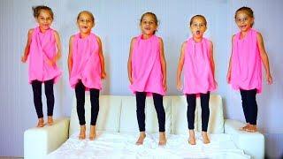 Five Little Monkeys Jumping On The Bed. Children Songs