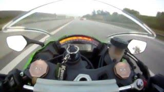 Парень обогнал мотоцикл на скорости 300 км/ч