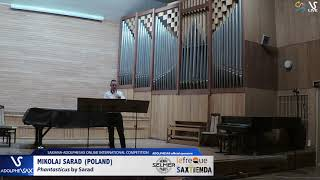 Mikolaj SARAD plays Phantasticus by Sarad #adolphesax