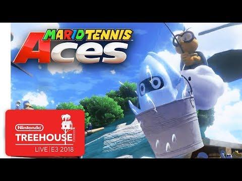 Mario Tennis Aces Gameplay Pt. 3 - Nintendo Treehouse: Live | E3 2018 thumbnail