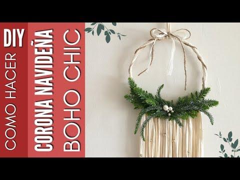 100 ideas decoraci n navide a 2018 coronas navide as for Decoraciones navidenas faciles de hacer