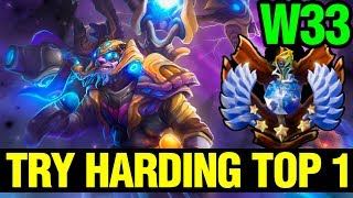 TRY HARDING TO GET THE TOP 1 - W33 TINKER - Dota 2