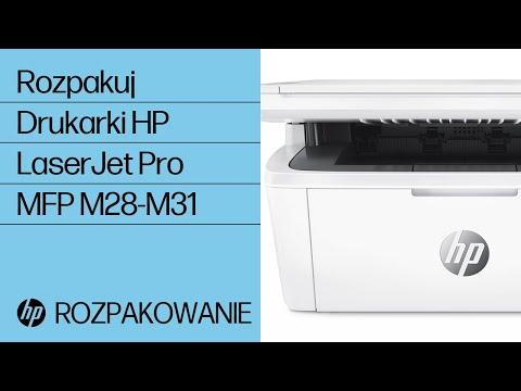 Jak rozpakować drukarki HP LaserJet Pro MFP M28-M31