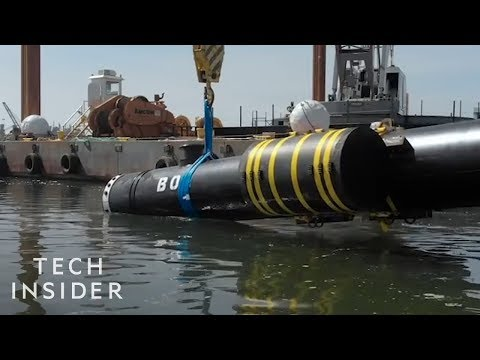 Giant Floating Pipes Help To Remove Ocean Waste