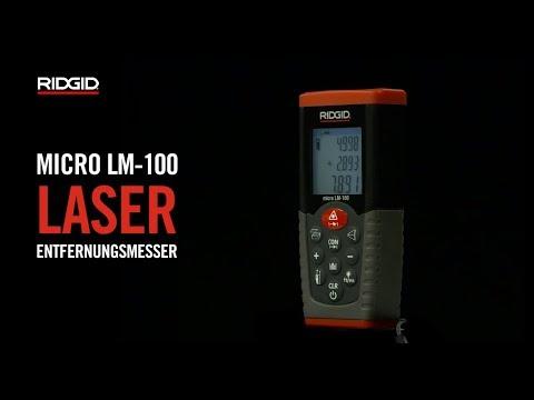 Laser Entfernungsmesser Vermessung : Micro lm laser entfernungsmesser ridgid