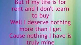 Dido - Life for rent with Lyrics
