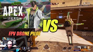 Real FPV Drone Pilot Playing With Crypto's FPV Drone. Do I Have An Advantage? #apexlegends #FPV