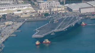 USS Theodore Roosevelt returns to San Diego after tumultuous deployment
