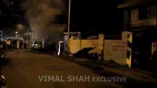 preview picture of video 'Fire in Electricity Box at Carter Road Number 8, Borivali East on 13th Sep. 2014'