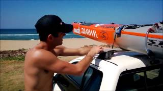 How to tie your kayak to the car correctly